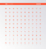 UI UX Code Production Icons Stock Photography