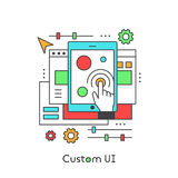 UI UX Custom Design Developing User Experience Royalty Free Stock Photos