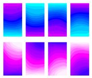UI UX Design, abstract concept multicolored blend background with a color vibrant curve line gradient. Modern screen gradient for internet website or mobile stock photo
