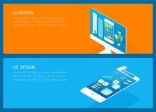 Ui & ux design_set Fotografia Stock