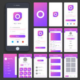 UI, UX and GUI for Mobile Apps. Stock Photography