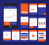 UI, UX and GUI template layout for Mobile Apps. Royalty Free Stock Images