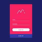 UI, UX i GUI szablonu układ dla Mobilnego Apps, Zdjęcia Royalty Free