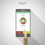 UI UX voor mobiele telefoon app Vlakke sociale het ontwerpinfographics van pictogrammensmartphone Royalty-vrije Stock Foto