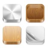 UI vierkante geplaatste pictogrammen. Stock Foto