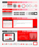 UI vlakke Ontwerpelementen voor Web, Infographics Stock Afbeeldingen