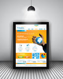 Элементы дизайна UI плоские для элементов дизайна WUI плоских для сети, Infographics Стоковые Изображения