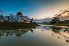 UIAM Mosque. Sunset view at UIAM Mosque, Kuantan Malaysia royalty free stock images