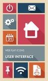 五颜六色的UI网apps用户界面平的象。 免版税库存照片