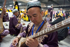 Uighur Maixirefu folk musician Royalty Free Stock Photos