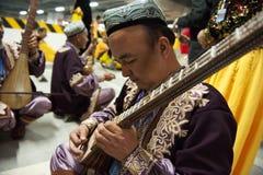 Uighur Maixirefu folk musician Stock Images