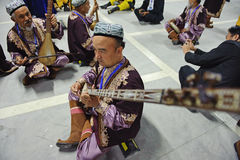 Uighur Maixirefu folk musicians Royalty Free Stock Photos