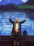 Uighur old man dance Royalty Free Stock Image