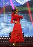 Uighur woman dancer Stock Photo