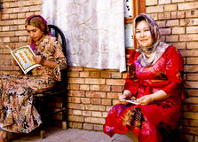 Uighur women Stock Photos