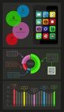 Ui、infographics和网元素包括平的d 免版税库存图片