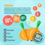 Uiinfographics en vitaminen Stock Foto