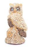 Uil gemaakte ââwith shells Royalty-vrije Stock Afbeeldingen