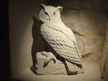 Uil - Kunst van Kalksteen Stock Fotografie