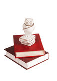 Uil met boeken Royalty-vrije Stock Fotografie