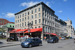 Uilding in Place Jacques-Cartier. MONTREAL CANADA 09 17 2016: Building in Place Jacques-Cartier is a square located in Old Montreal in Montreal, Quebec, Canada Royalty Free Stock Image