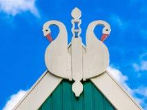 Uilenbord gable Frisian house, Netherlands Royalty Free Stock Photo