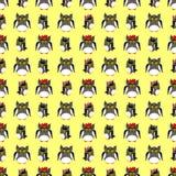 Uilenfamilie met gele achtergrond Royalty-vrije Stock Foto