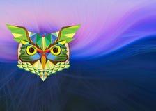 Uilhoofd in geometrisch patroon op abstracte achtergrond vector illustratie