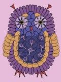 Uilvogel van verse de zomerbloemen die wordt gemaakt Stock Foto's