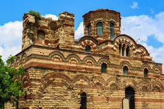 Uined Church of Christ Pantokrator, in old historical Nesebar to Royalty Free Stock Photos