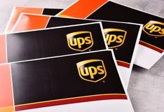 Uinited小包服务或UPS信封  库存照片