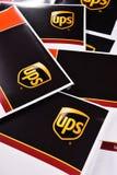 Uinited小包服务或UPS信封  免版税图库摄影