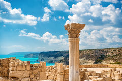 ?uins of ancient Kourion. Limassol District. Cyprus.  Royalty Free Stock Image