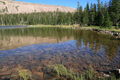 Uinta mountain lake. Dean Lake in Four Lakes Basin of the High Uinta Mountains Stock Photos