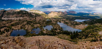 Uinta mountain lakes. Utah royalty free stock photo