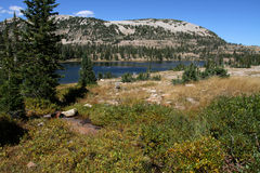 Uinta mountains and lake Stock Photo