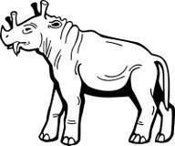 Uintatherium Fotografia Stock Libera da Diritti