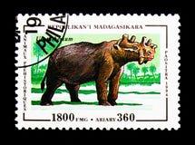Uintatherium förhistorisk djurserie, circa 1994 Arkivbilder