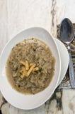 Uisoep met croutons Stock Afbeeldingen