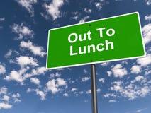 Uit aan Lunch royalty-vrije stock foto