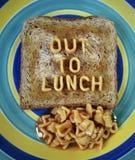 Uit aan lunch Stock Foto's