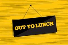 Uit aan lunchbericht Royalty-vrije Stock Fotografie