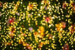 Uit de Lichten van de Nadruk tijdens de Nacht Stock Fotografie