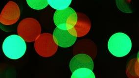 Uit de Lichtenachtergrond van Nadrukkerstmis stock footage