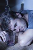 Uit dronken en overgegaan Stock Foto's