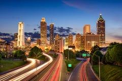 Uit het stadscentrum Atlanta stock afbeeldingen