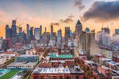 Uit het stadscentrum Cityscape van Manhattan royalty-vrije stock fotografie