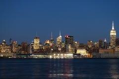 Uit het stadscentrum - de Stadshorizon van New York Royalty-vrije Stock Afbeelding