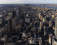 Uit het stadscentrum en lager Manhattan Stock Afbeeldingen
