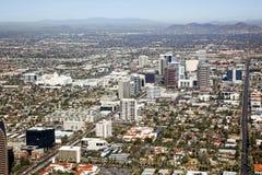 Uit het stadscentrum Horizon van Phoenix, Arizona stock afbeeldingen